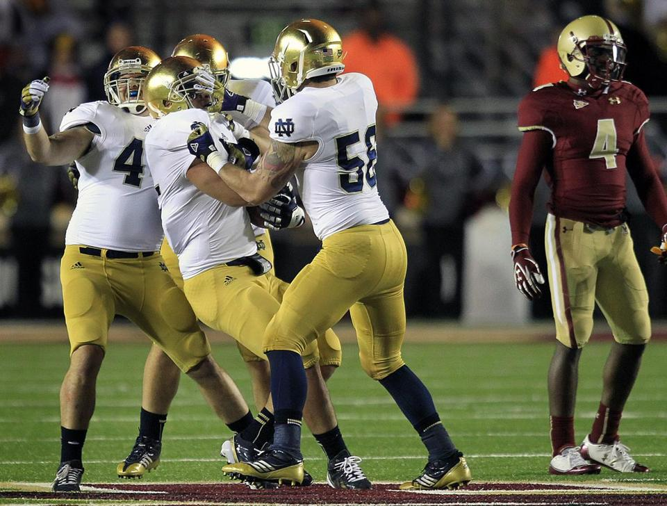 "Notre Dame, which last played in Boston at BC in 2012, will be back in 2015 - but this time in a ""home"" game at Fenway Park."