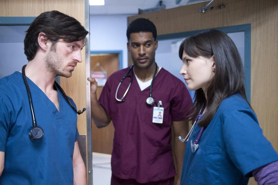 "From left: Eoin Macken, JR Lemon, and Jill Flint in ""Night Shift."""