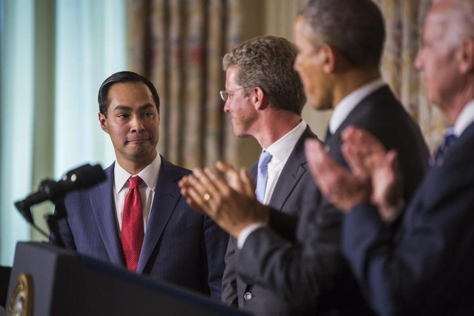 San Antonio Mayor Julian Castro (left) was picked to lead the Department of Housing and Urban Development. Castro, 39, is seen as a possible candidate for vice president.