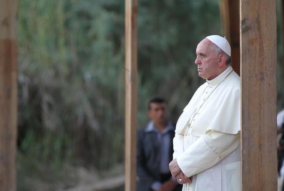 Pope Francis began a three-day tour of the Middle East in Jordan.
