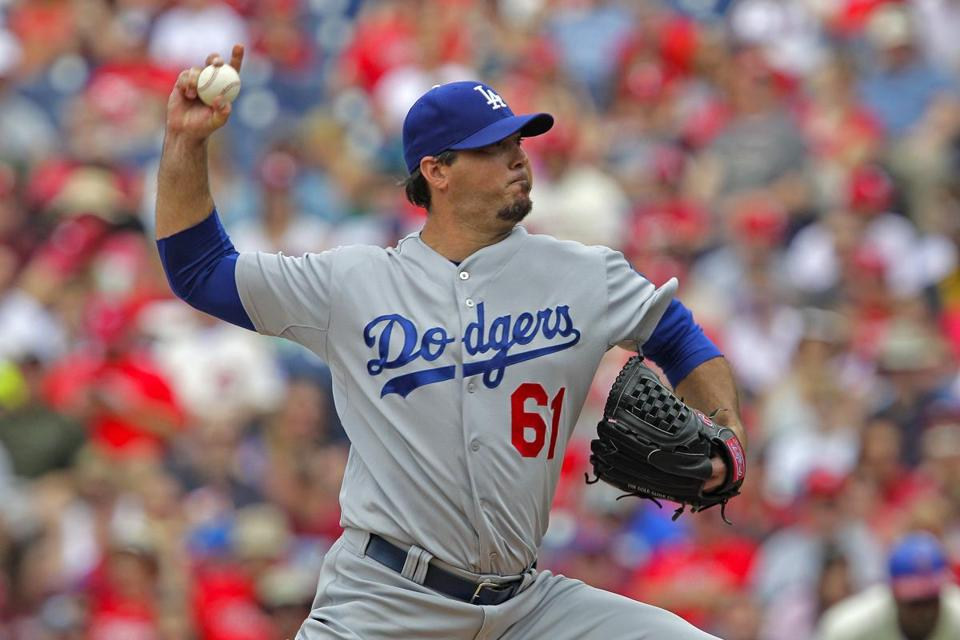 Josh Beckett threw 128 pitches against the Phillies and did not give up a hit.
