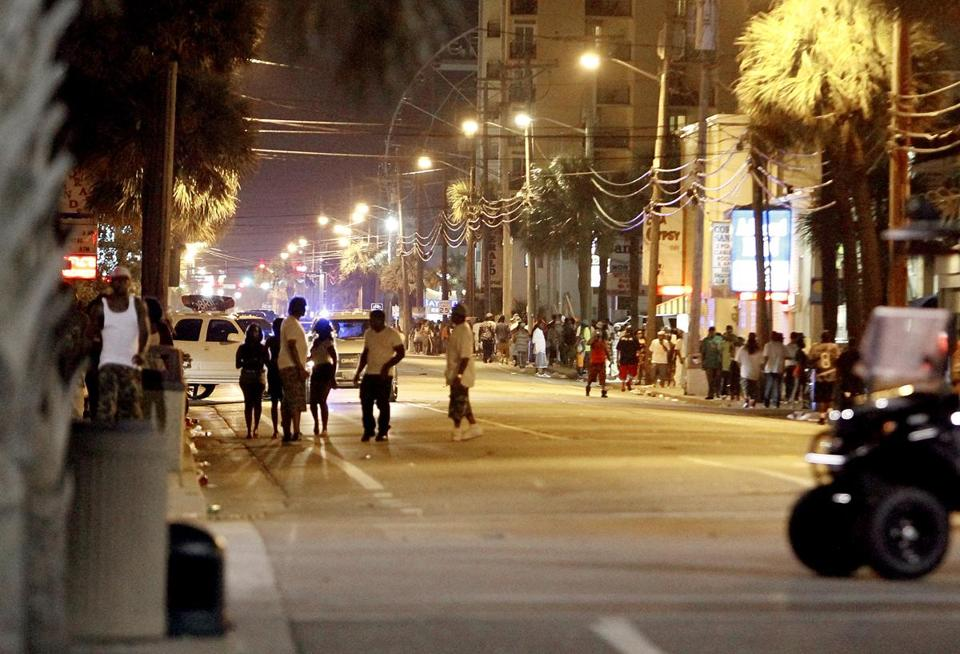 Ocean Boulevard was closed to vehicle traffic for about eight blocks as Myrtle Beach Police investigated multiple shootings late Saturday.