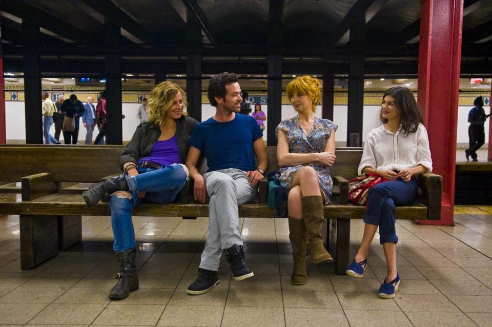 "From left: Cécile de France, Romain Duris, Kelly Reilly, and Audrey Tautou in a scene from ""Chinese Puzzle,"" directed by Cédric Klapisch."
