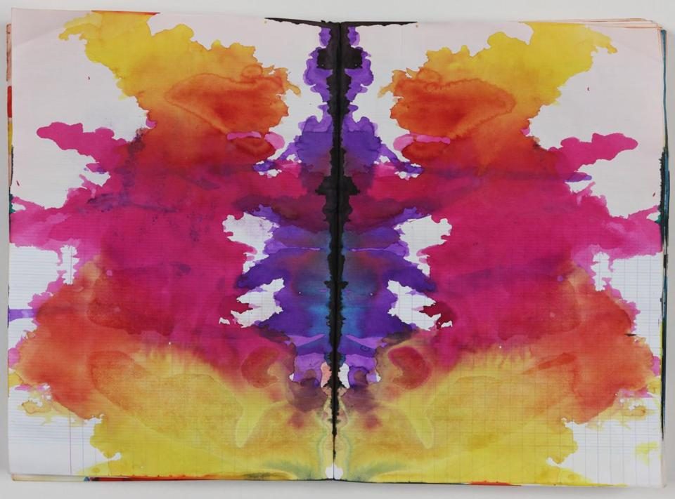 """Untitled (Rorschach),"" a 1999 work by Sigmar Polke."
