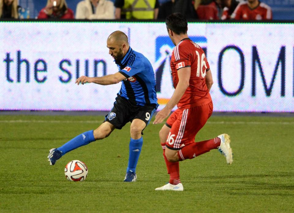 Montreal striker Marco Di Vaio (left) is one to keep an eye on. Dan Hamilton/USA Today