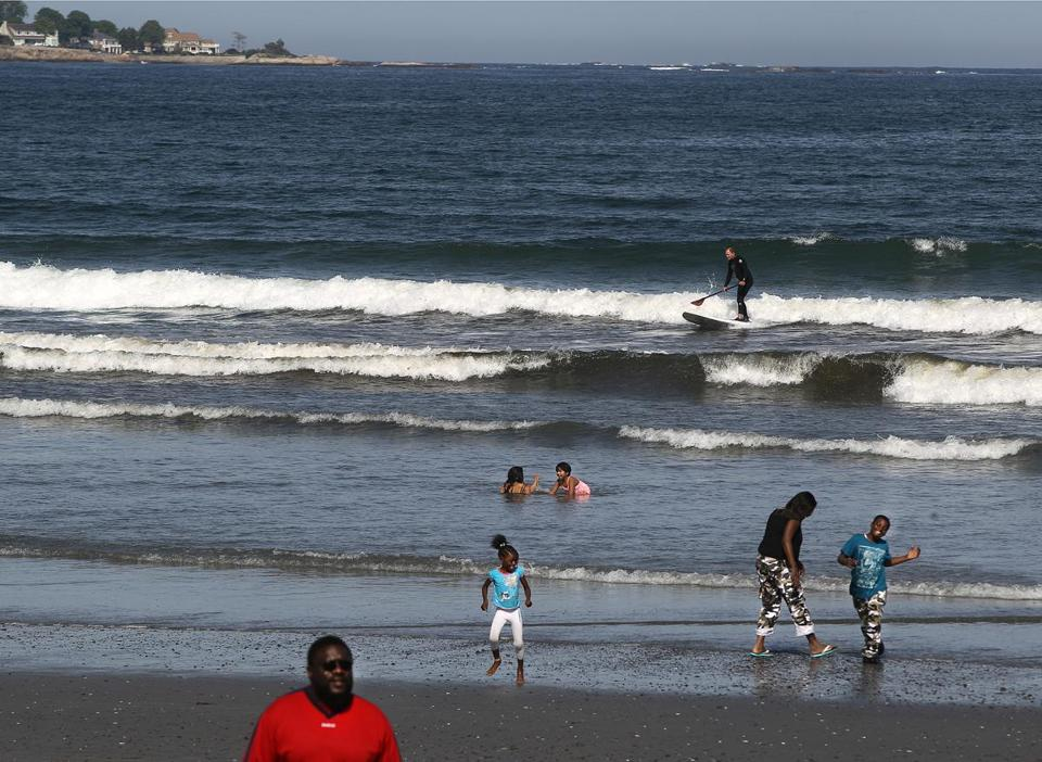 Beachgoers enjoyed Nahant on Sunday. A commission said more state funding for beaches would have wide impact.