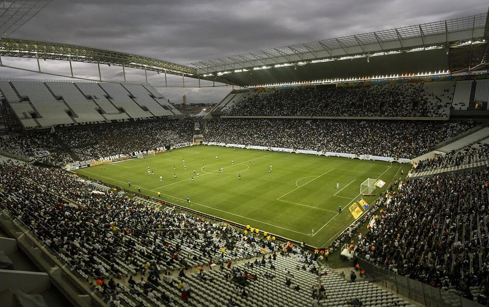 The Corinthians Arena in Sao Paulo, which will not be complete before the the opening match of the World Cup is held there Thursday, will end up costing over $400 million.