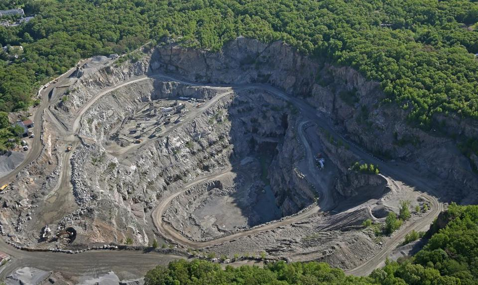 A West Roxbury quarry has generated complaints from neighbors upset about a series of loud blasts, dust and rumbling trucks.