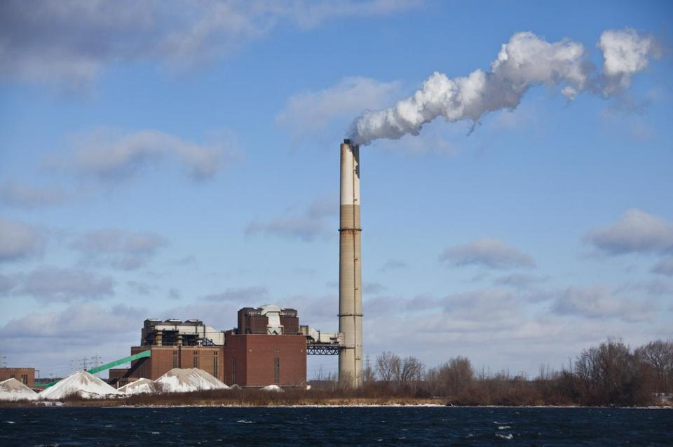 A Michigan coal-fired power plant is seen.