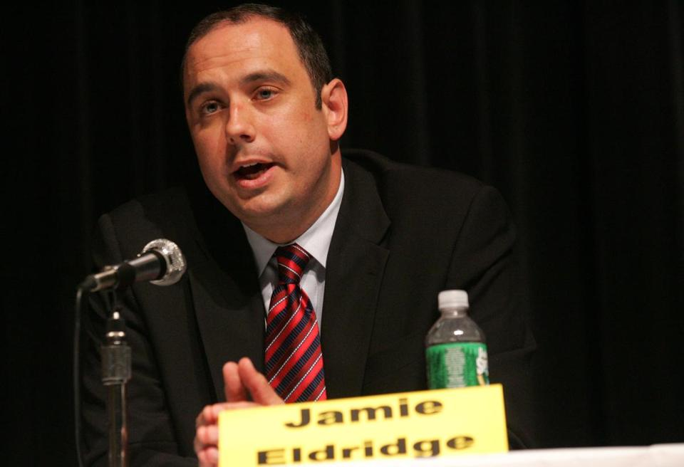 State Senator Jamie Eldridge of Acton sponsored a bill for campaign finance reform.
