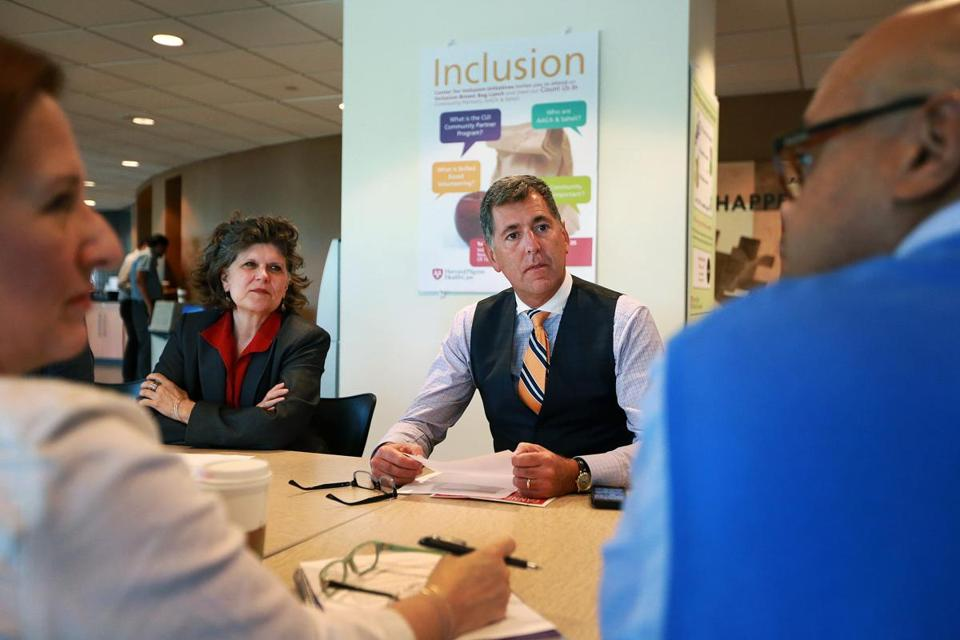 Harvard Pilgrim's Eric Schultz and inclusion chief Karen Young.