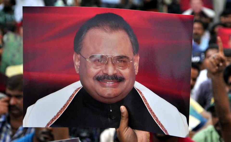 Supporters of Altaf Hussain gathered in Karachi, Pakistan, on Tuesday.
