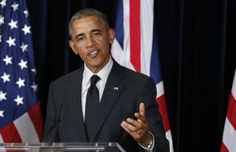 President Obama held a joint news conference with British Prime Minister David Cameron.