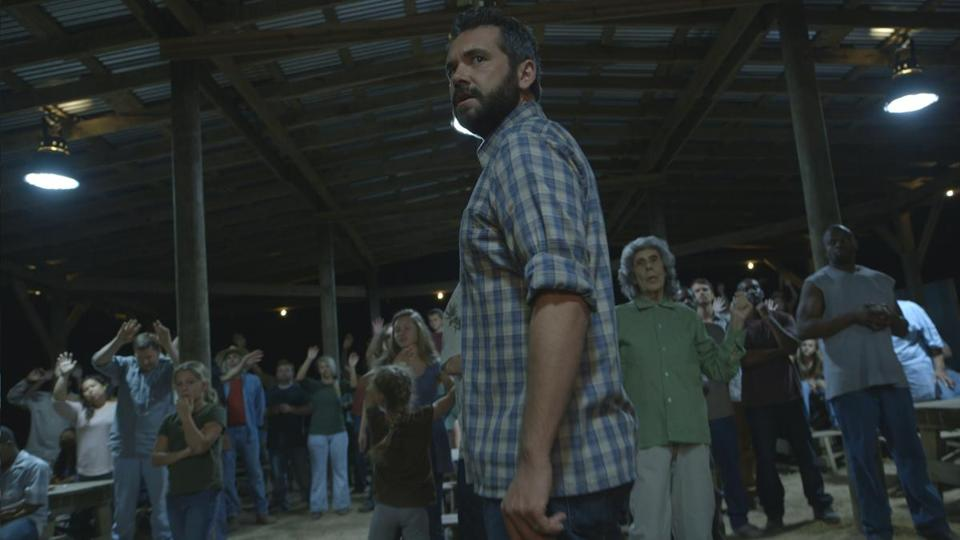 "AJ Bowen in a scene from ""The Sacrament,"" directed and written by Ti West."