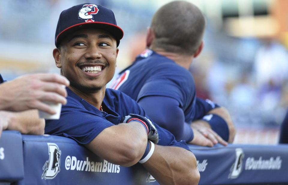 Mookie Betts seems very much at ease with his Triple A teammates, though he is just 21.
