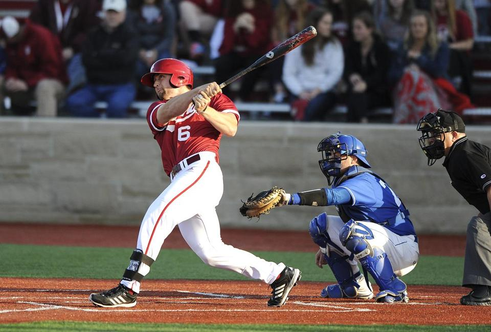 Sam Travis of Indiana was chosen by the Red Sox with the 67th pick in the 2014 draft.