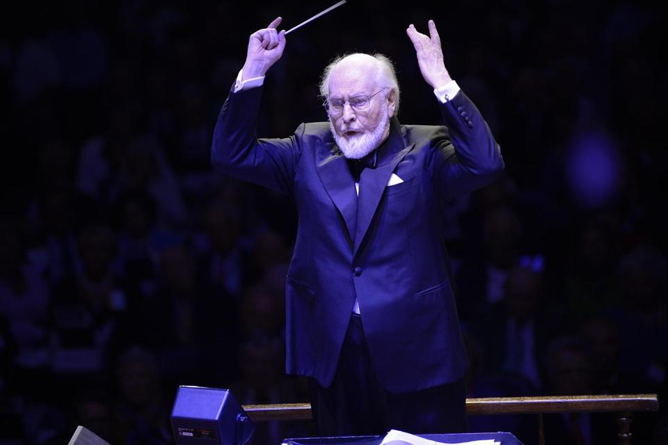 John Williams led the Boston Pops in his annual Film Night Friday night.