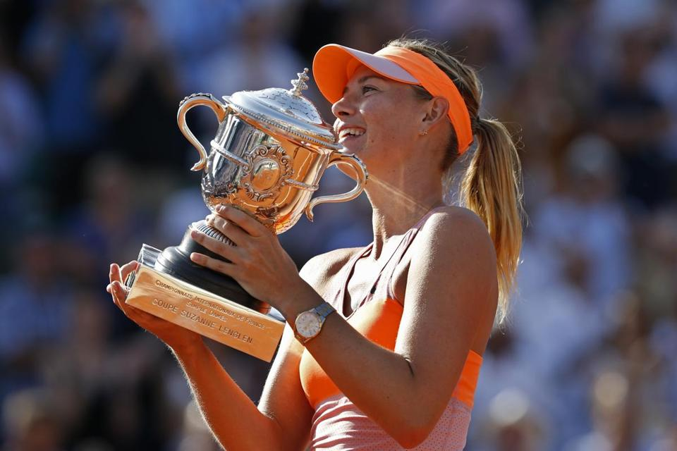 Maria Sharapova captured her fifth major title on Saturday.