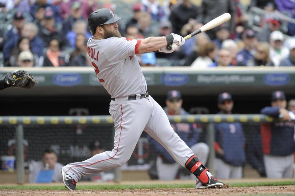 The Red Sox are eager to get Mike Napoli's bat back into the struggling team's lineup.  (Tom Olmscheid/Associated Press)