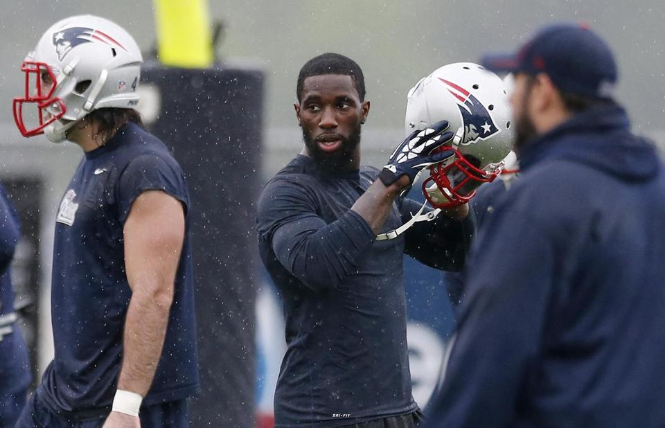 Kyle Arrington has been getting some reps at safety. That, combined with his special teams ability, could secure a roster spot. (AP Photo/Michael Dwyer)
