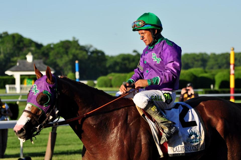 California Chrome became the 13th horse to win the Kentucky Derby and Preakness, but not win the Triple Crown.