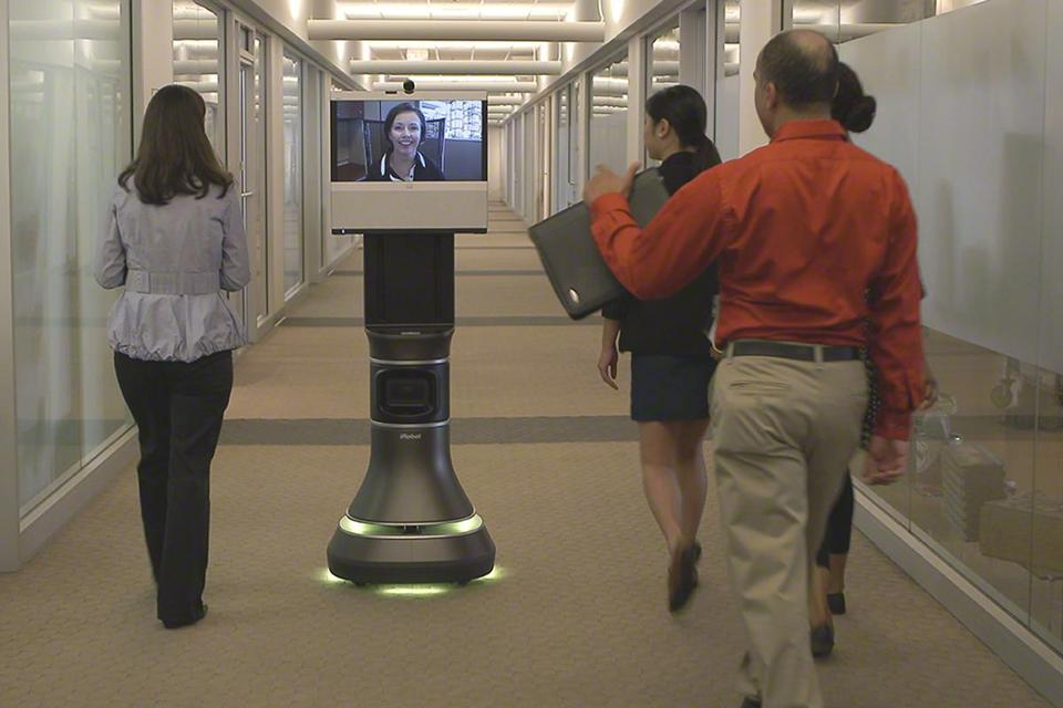 Ava 500 robots let users move around with colleagues from remote locations.