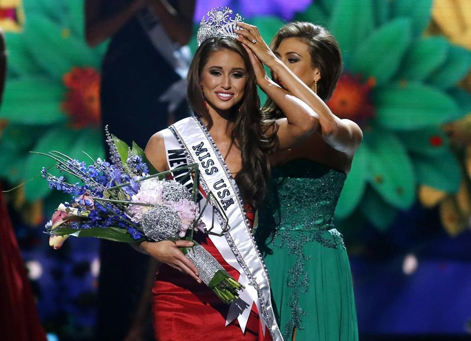 Miss Nevada USA Nia Sanchez was crowned Miss USA during the Miss USA 2014 pageant in Baton Rouge, La., on June 8.