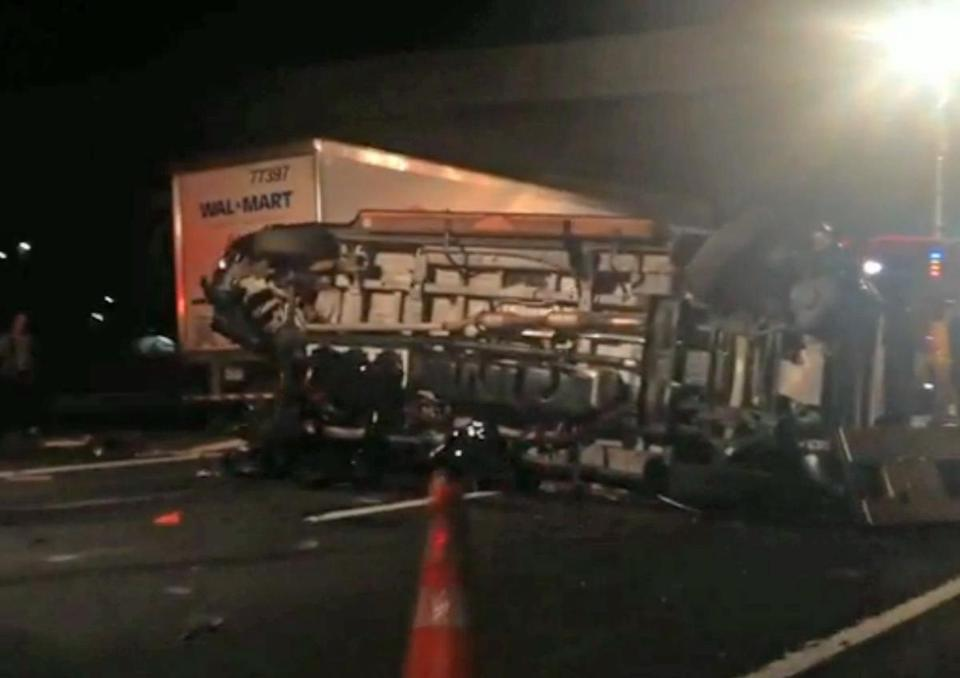 "Kevin Roper had not slept ""in excess of 24 hours"" when his truck struck a van in New Jersey Saturday, prosecutors said."