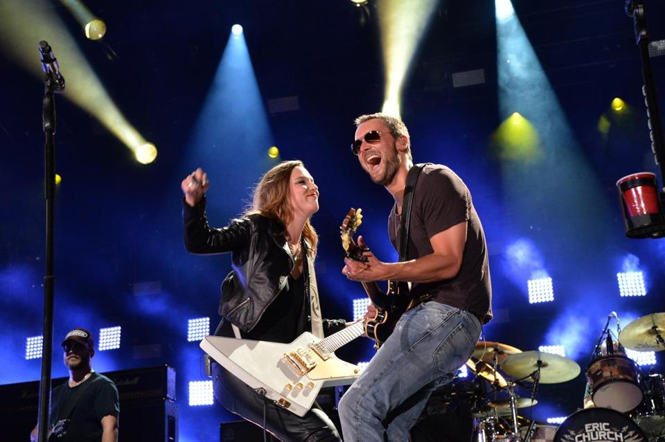 Lzzy Hale, of Halestorm, and Eric Church in Nashville on June 6.
