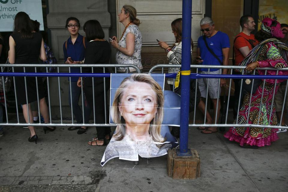 "People waited in line Tuesday in New York for a signing event with Hillary Rodham Clinton for her new book, ""Hard Choices."" The tour will travel across the country."