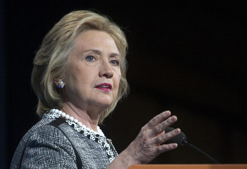 Former Secretary of State Hillary Rodham Clinton spoke in Washington in May.