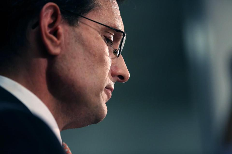 House majority leader Eric Cantor said on Wednesday that he would resign his leadership post on July 31.