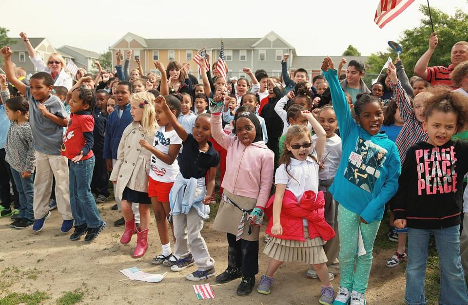 It all took place during Flag Day festivities with dancing, clapping, and foot stomping.