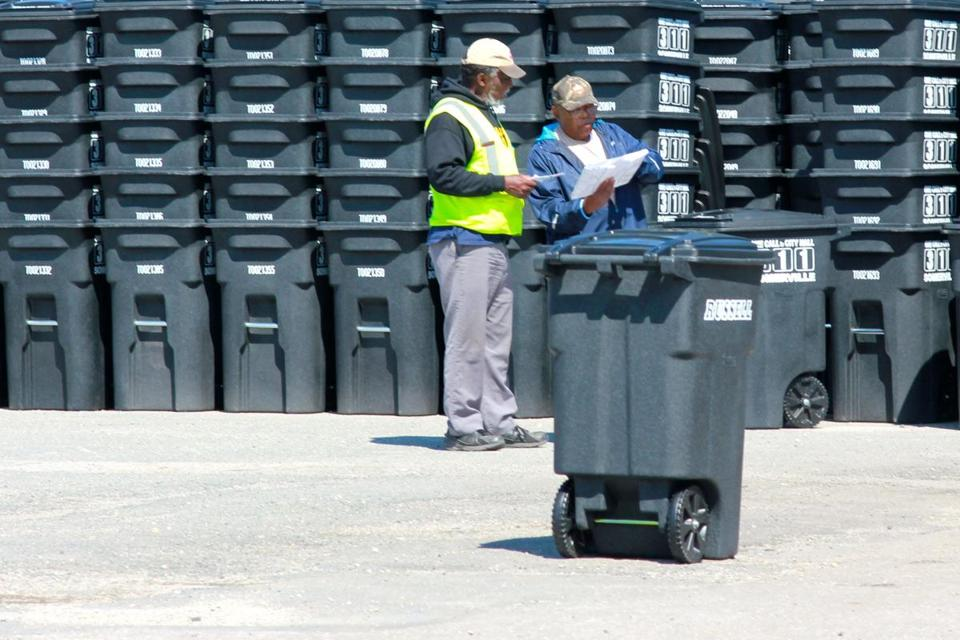 New rodent-proof trash barrels are being organized for delivery to Somerville households.