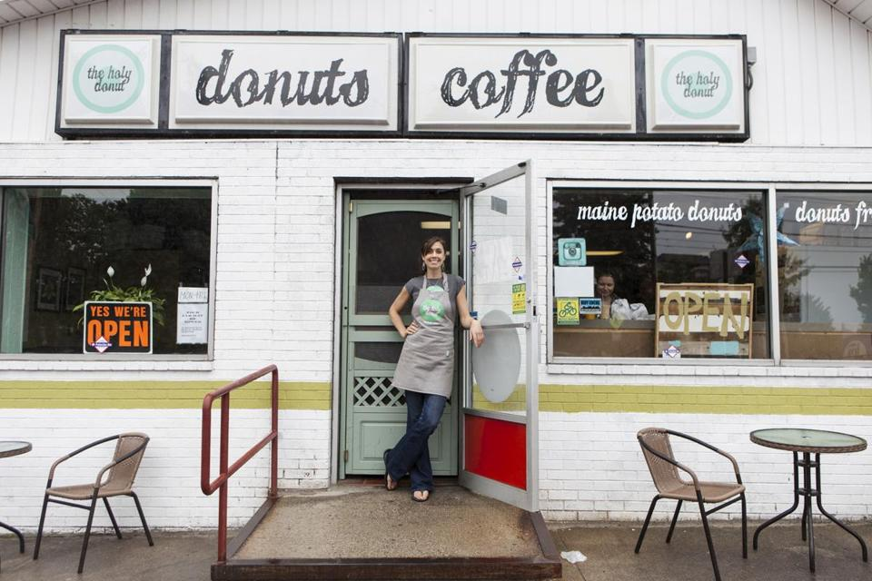Leigh Kellis at her Park Avenue Holy Donut store, open since 2012.