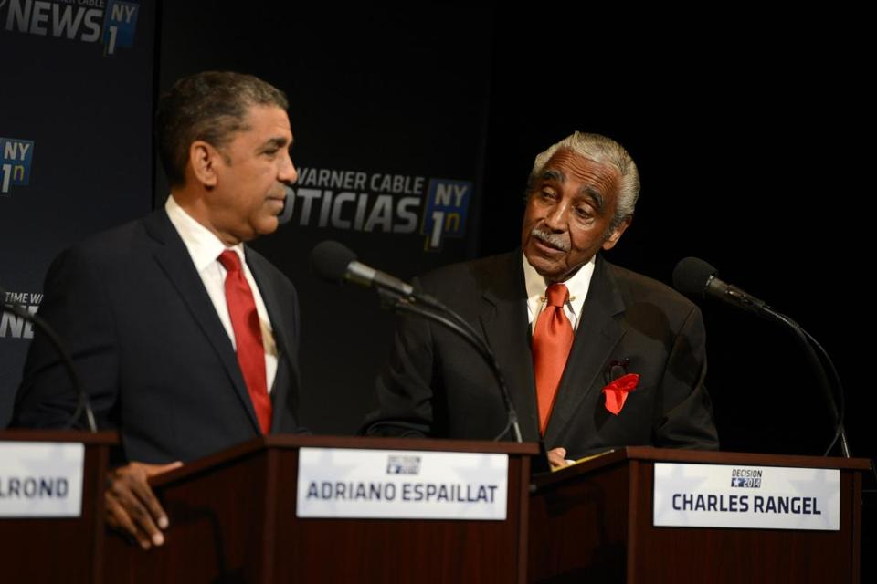 Representative Charles Rangel has accused Adriano Espaillat, who would be the first Dominican-born member of Congress if elected, of trading on ethnic ties and pride.
