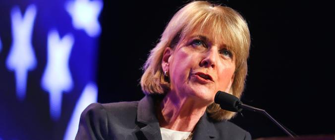 Martha Coakley spoke at the Democratic State Convention.