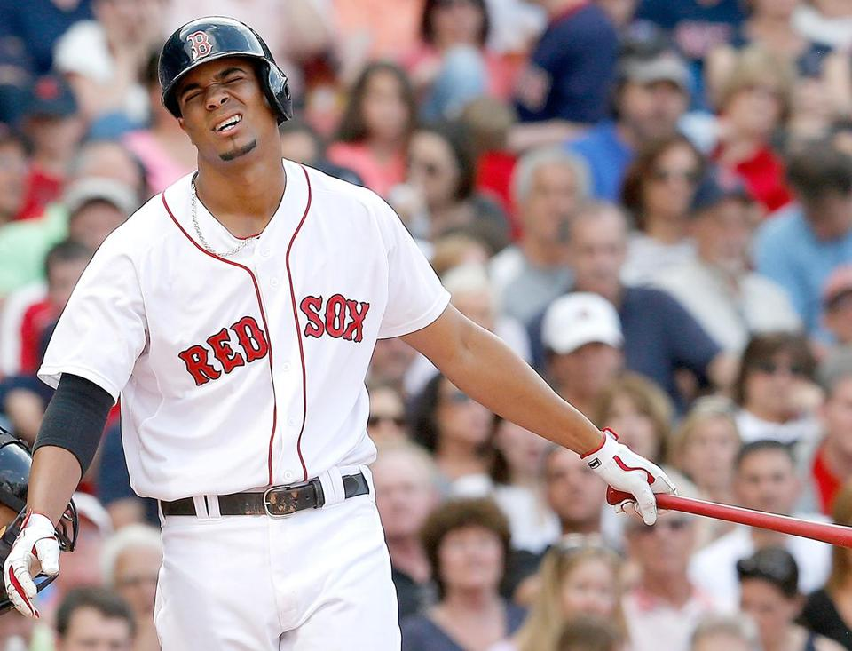Xander Bogaerts has slumped at the plate since being shifted from shortstop to third base. (Photo by Jim Rogash/Getty Images)