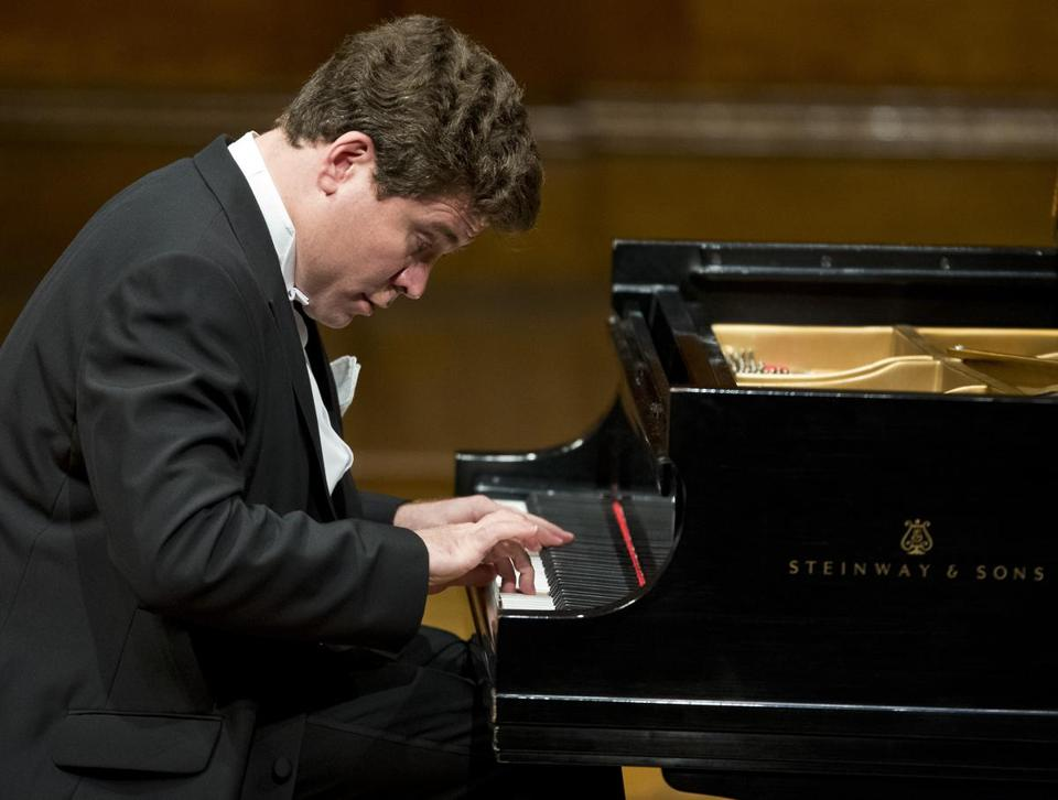 Denis Matsuev performs at Sanders Theatre on Saturday night.