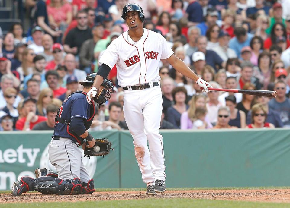 Xander Bogaerts went 1-for-4 in the Red Sox' loss Saturday.