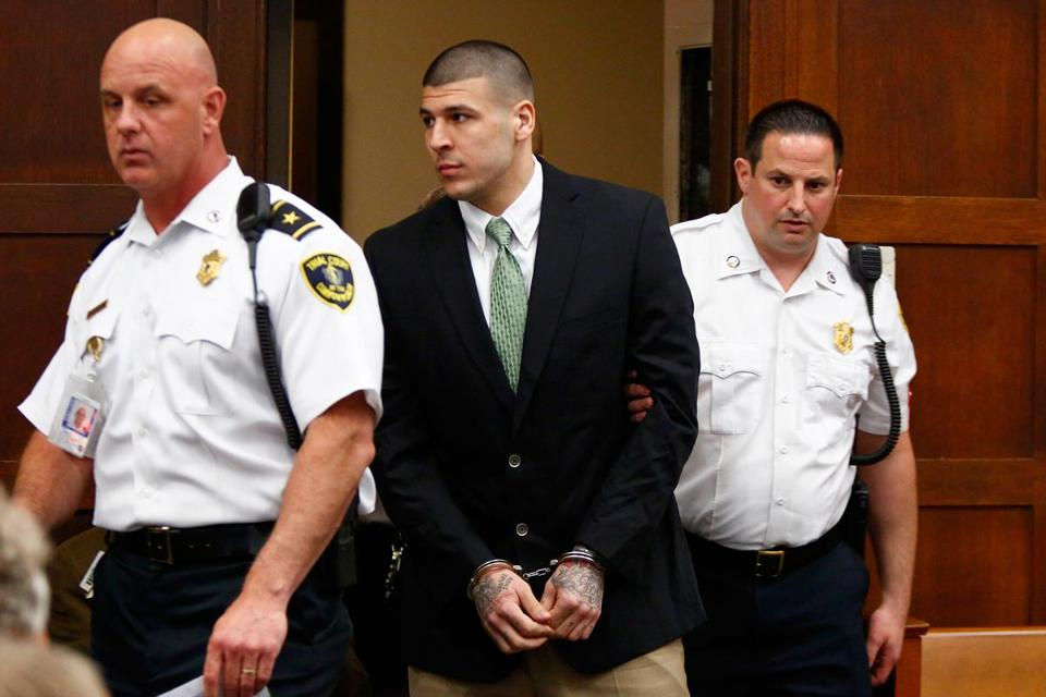 Aaron Hernandez is also charged with killing two men in Boston in 2012.