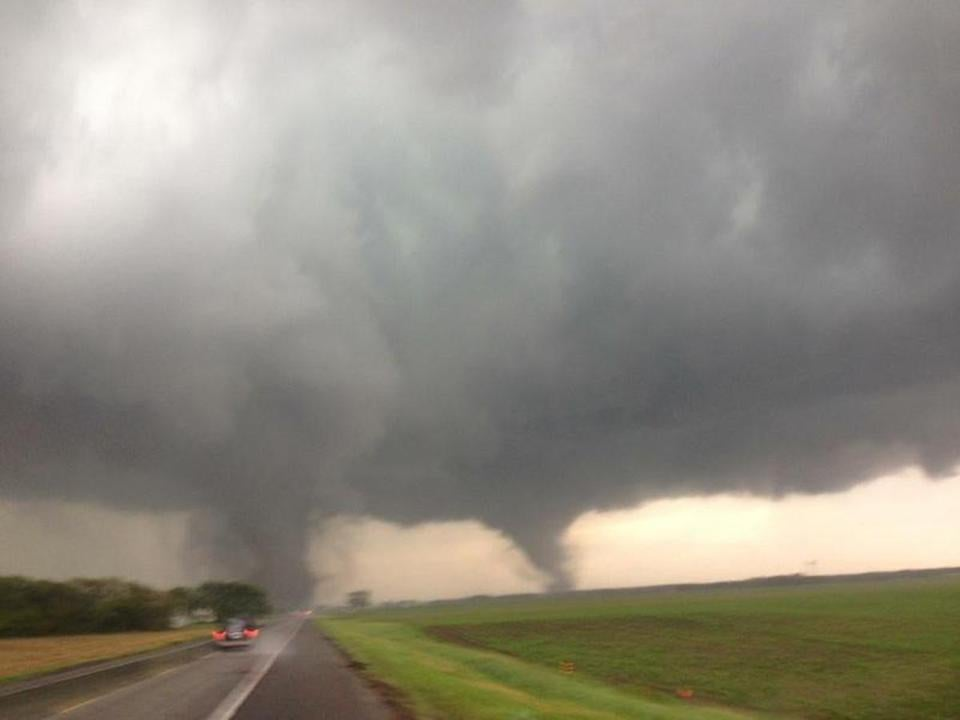 Two tornadoes touched down in rural northeastern Nebraska Monday afternoon.