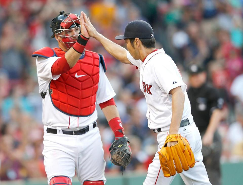 Both catcher A.J. Pierzynski and closer Koji Uehara could be attractive trade chips this season.