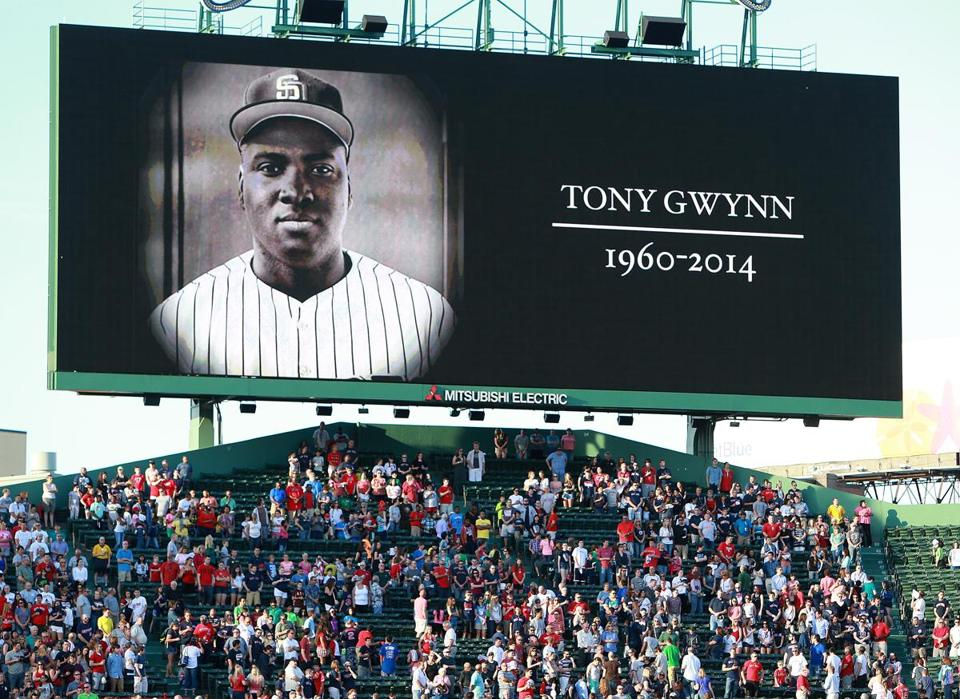The Red Sox honored Tony Gwynn with a moment of silence before Monday's game.