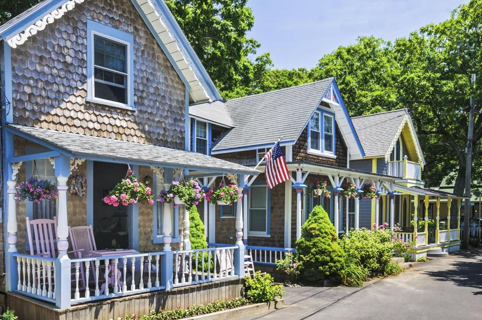 Some of these tiny summer cottages built in Oak Bluffs in  the 1860s and '70s as a Methodist retreat, and now meticulously decorated and maintained, are rented out by their owners.