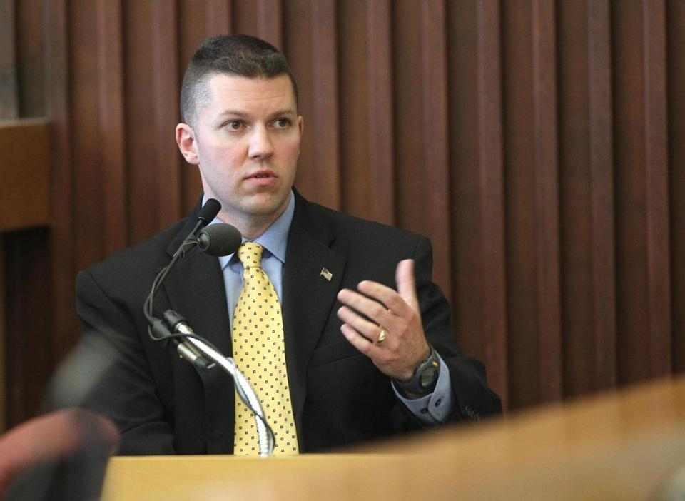 Timothy Burt, a detective with Dover, N.H., police department, testified in the trial of Seth Mazzaglia.