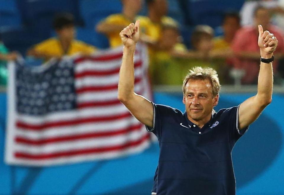 Coach Jurgen Klinsmann celebrated his team's 2-1 victory over Ghana.