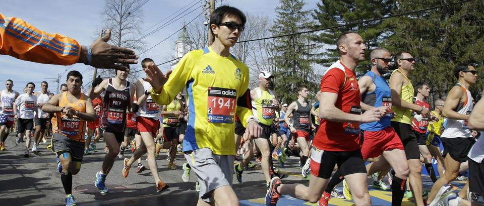 The field size for the 2015 Boston Marathon has not yet been determined.