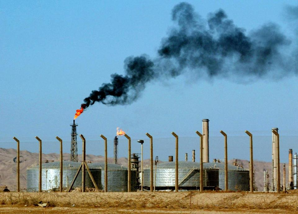 In this 2003 file photo, a refinery is seen in the city of Beiji, home to Iraq's largest oil refinery.
