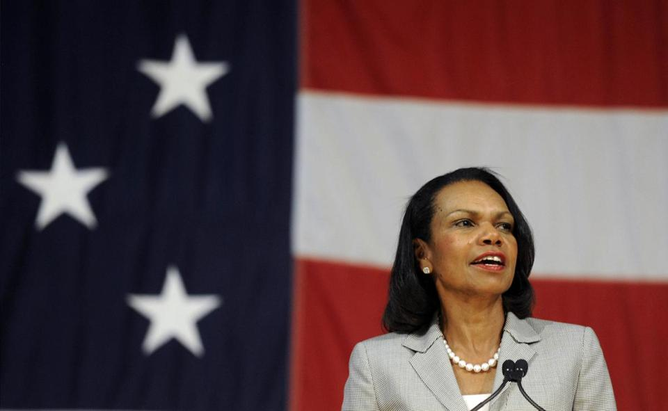 Condoleezza Rice spoke Thursday at Norwich University.